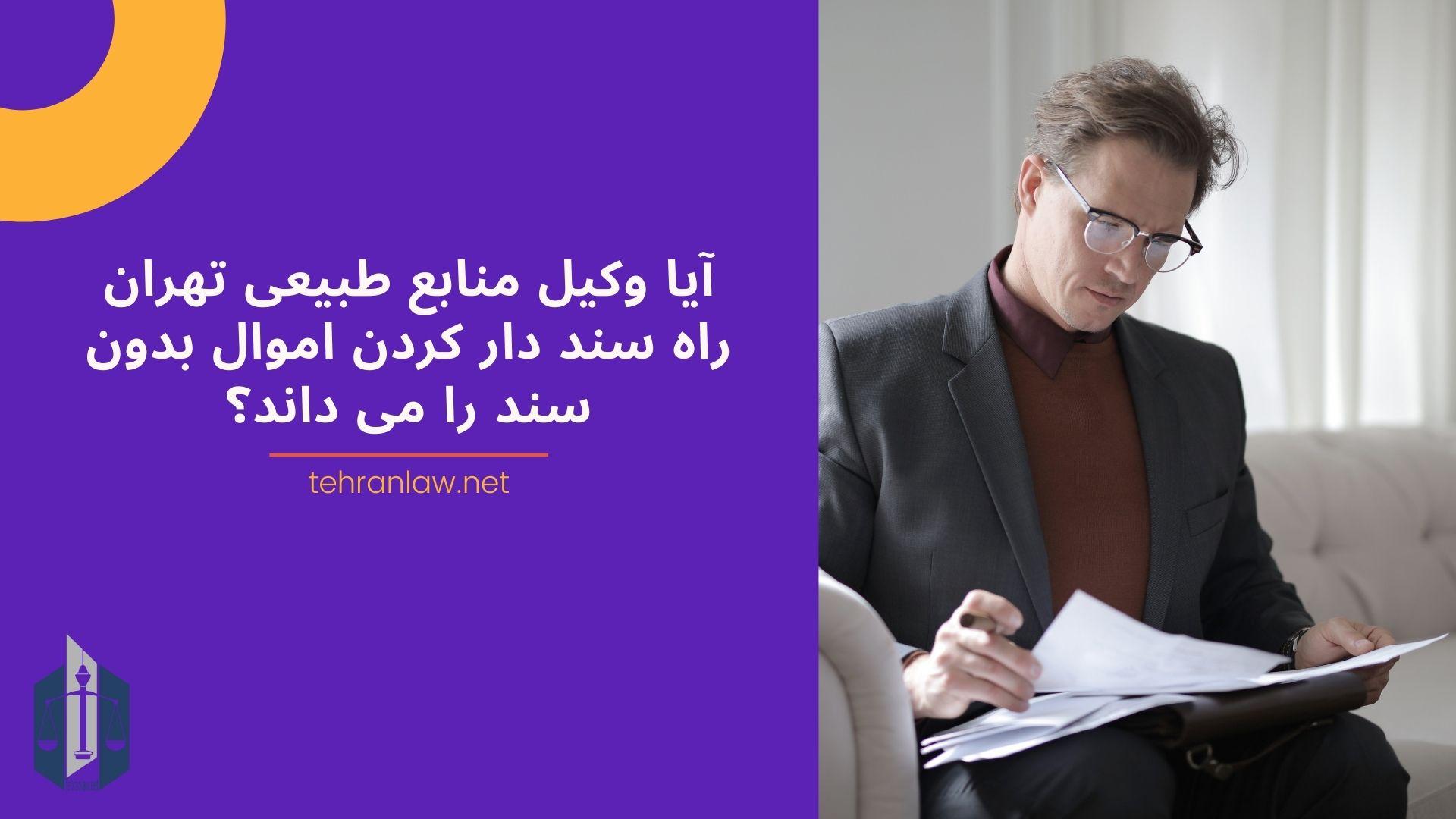 آیا وکیل منابع طبیعی تهران راه سند دار کردن اموال بدون سند را می داند؟