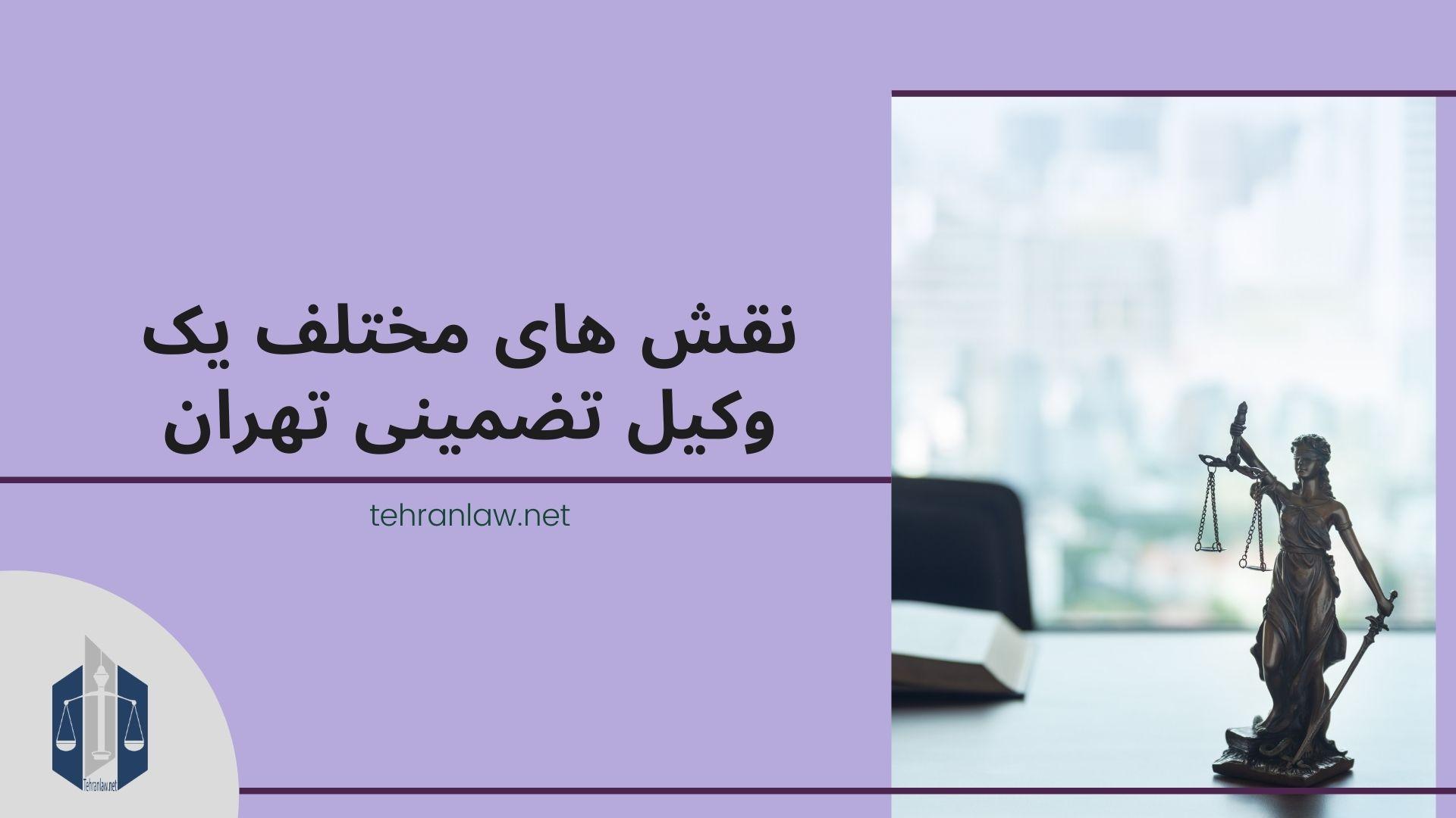 نقش های مختلف یک وکیل تضمینی تهران